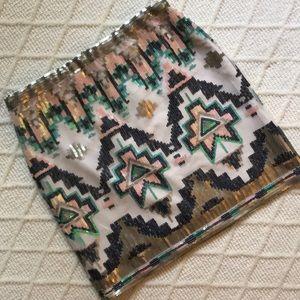 Alya Sequin pattern skirt